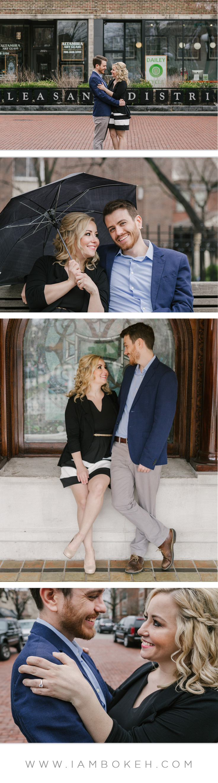 Engagement Shoot in Downtown Oak Park: Craig & Sarah
