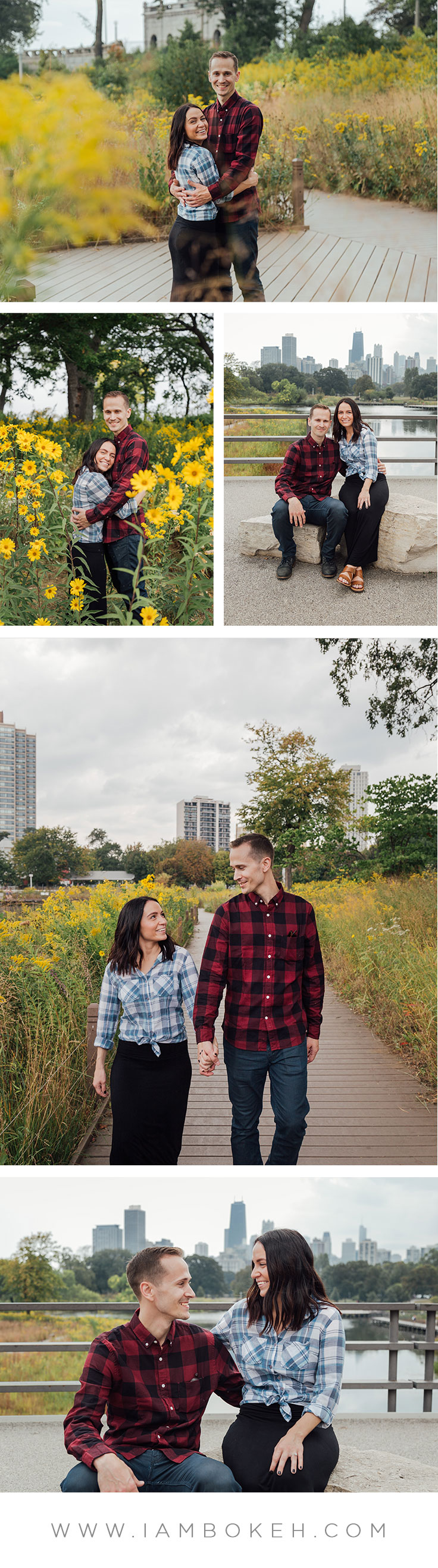 Bokéh Studios | Engagement Shoot in Lincoln Park: Bill & Rachel