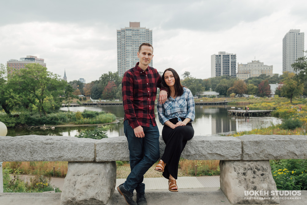 Bokeh-Studios-Engagement-Shoot-Photography-Lincoln-Park-Honeycomb-Structure-Chicago-Photographer-Best-Engaged
