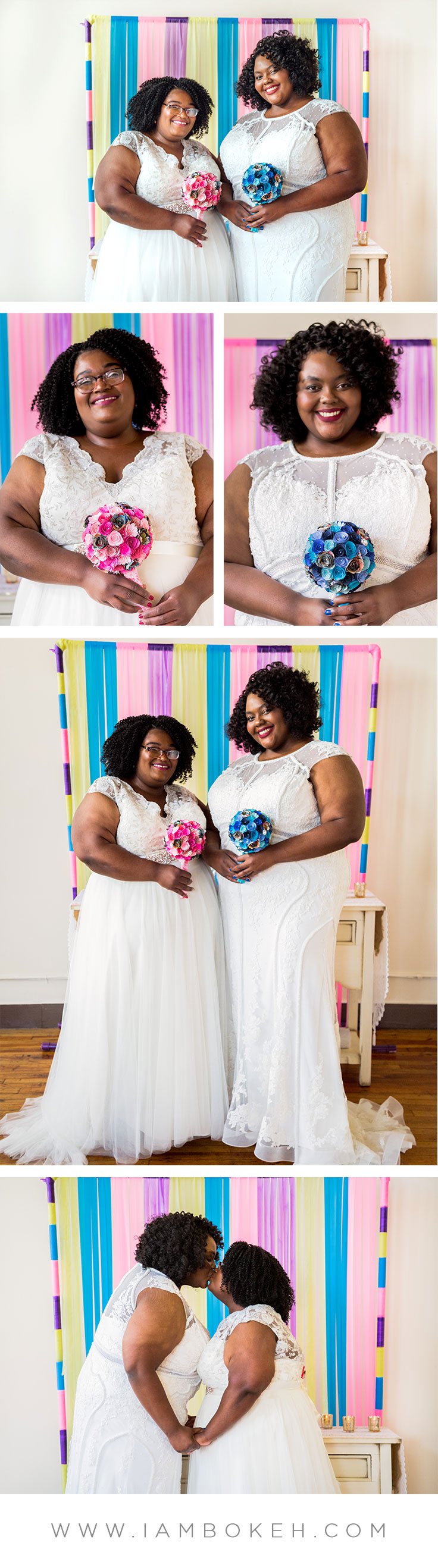 Bokéh Studios | Chicago Wedding at Creativo Loft: Elizabeth & LaQueisha
